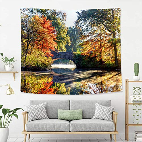 BEIVIVI Wall Tapestry Wall Hanging Autumn in Bostons Dorchester Neighborhood Tapestry, Living Room Bedroom Decoration Tapestry, Mattress, - Dorchester Hanging