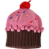Strawberry Cupcake knit hat womens size