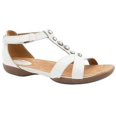 d4081761149350 Clarks Ladies Raffi Scent White Casual Sandals Size 8  Amazon.co.uk ...