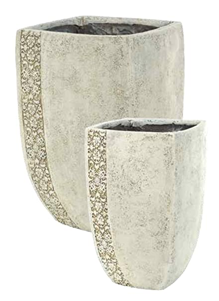 Amazon Napco Classic Vase Planters With Leafy Pattern Accent