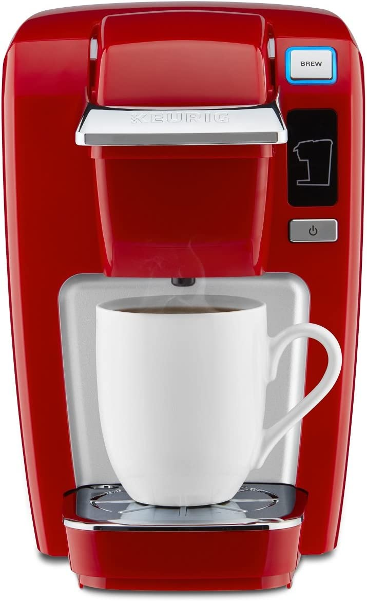 Imperial Red Keurig K-Compact Single-Serve K-Cup Pod Coffee Maker
