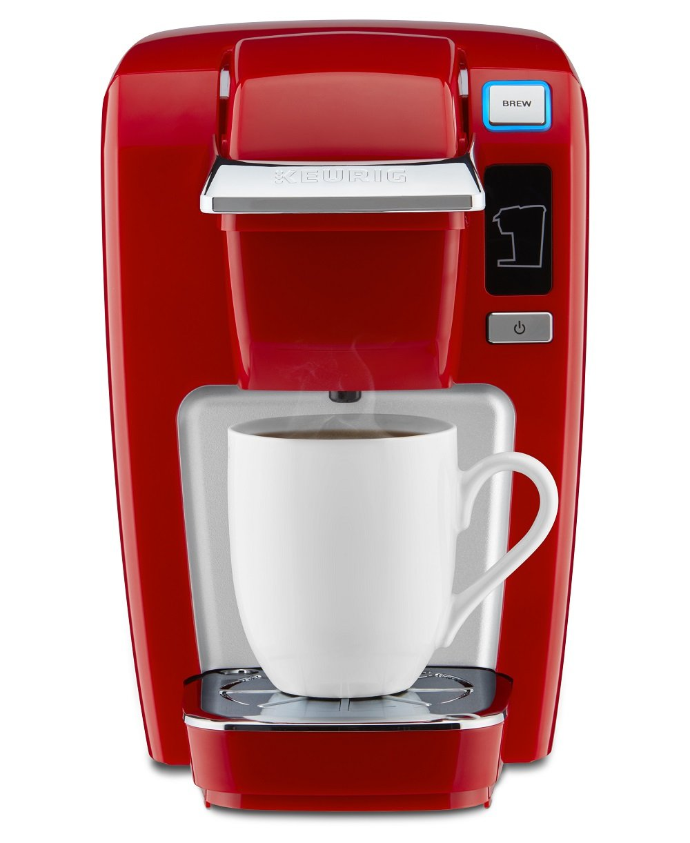 Keurig K15Red K-Mini K15 Single-Serve K-Cup Pod Coffee Maker, Chili Red