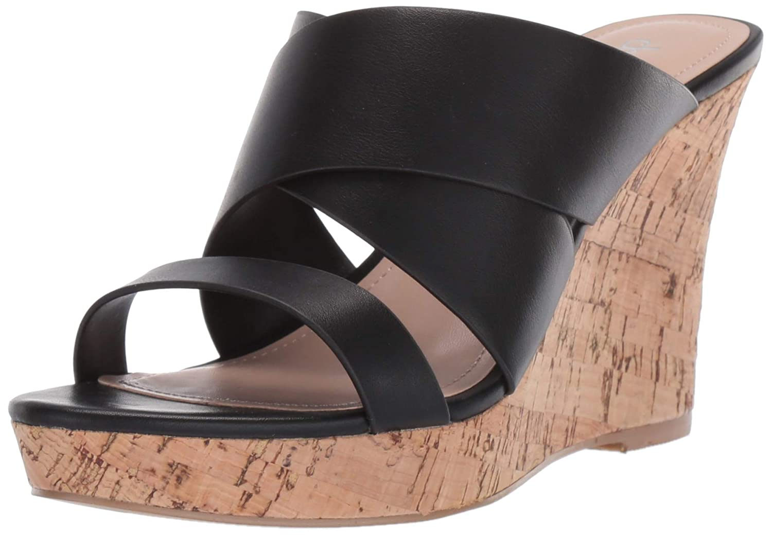 Black Charles by Charles David Womens Leslie Wedge Sandal