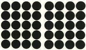 uxcell Furniture Pads Round Self-Stick Non-Slip Anti-Scratch Felt Pads Floors Protector 15mm Dia 40pcs Black