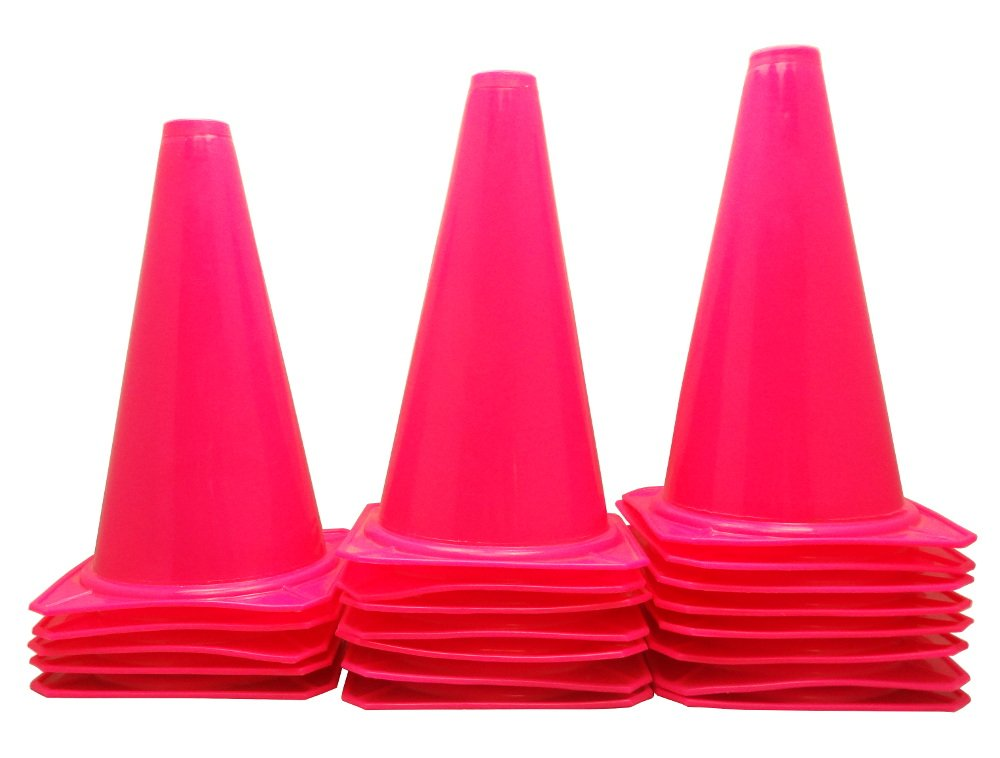 Bluedot Trading Cones (20 Pack), 9'', Pink