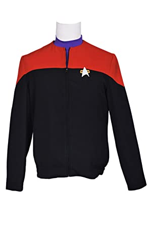 Amazon Com Xomo Star Trek Costume Voyager Command Red Uniform Clothing