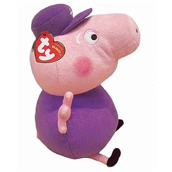 ae05517e1e9 Ty Peppa Pig Grandpa Pig Beanie Soft Toy  Amazon.co.uk  Toys   Games