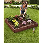 "The Lakeside Collection Raised Garden Bed Set for Vegetable and Flower Gardening 7 Perfect for vegetable or flower gardening, this convenient kit is the perfect gift for moms and dads trying to enhance the look of their yard or other outdoor space Easily assembles into one large garden box or two smaller raised beds. 8 Stakes ensure this garden kit is securely planted into the ground. Set includes: 8 Side panels, 21-1/4""W x 3/4""D x 5-1/2""H, each, 8 Stakes, 5/8"" dia. x 9-3/4""L, each"