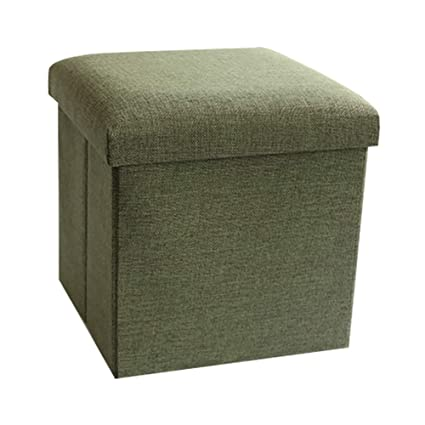LFF  Collapsible Cube Storage Ottoman With Cover Foot Rest Seat Versatile  Space Saving Foot