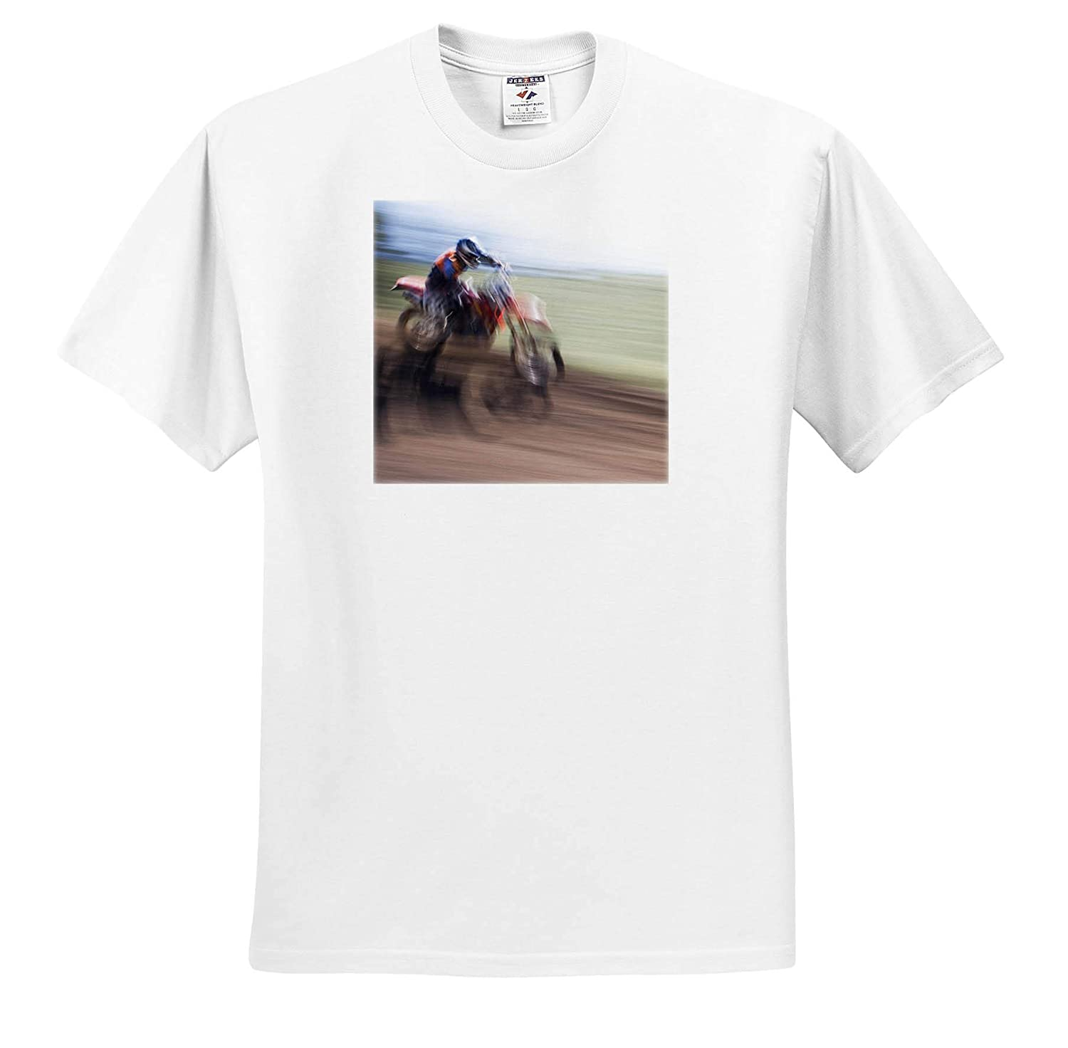 - Adult T-Shirt XL 3dRose Danita Delimont Motorcycles ts/_314605 Blur of Motocross Racer California USA