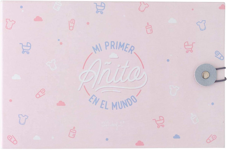 Álbum de fotos rosa - Mi primer añito en el mundo