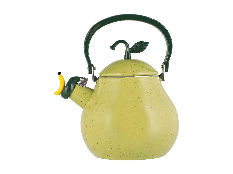 H&H Pear Bollitore, Rivestimento Smalto, Acciaio Inossidabile, Verde, 2,5 lt 8708200 bollitori; fornello