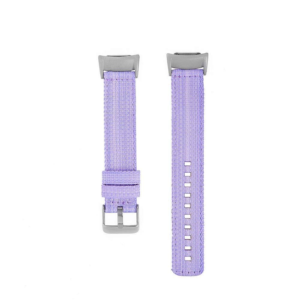 Lovewe Samsung Gear fit2/ fit2 pro Nylon Band, Nylon Weave Band Wrist Strap Woven Bracelet Strap Band For Samsung Gear fit2/fit2 pro (Purple)