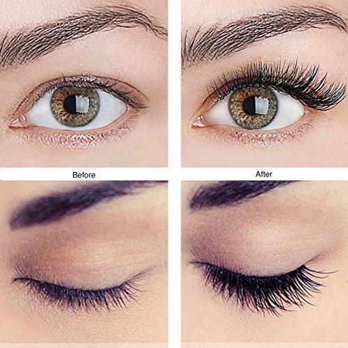 2fa568370a8 MeBueTee Dual Magnetic False Eyelashes 3D Fiber Reusable Natural Wispy  Lashes Fake Eyelash Extensions-Long