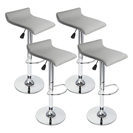 GotHobby 4 Pcs Gray Modern Bar Stool Swivel Chair Pub Counter Low Profile Barstools  sc 1 st  Amazon.com & Amazon.com: GotHobby 4 Pcs Gray Modern Bar Stool Swivel Chair Pub ... islam-shia.org
