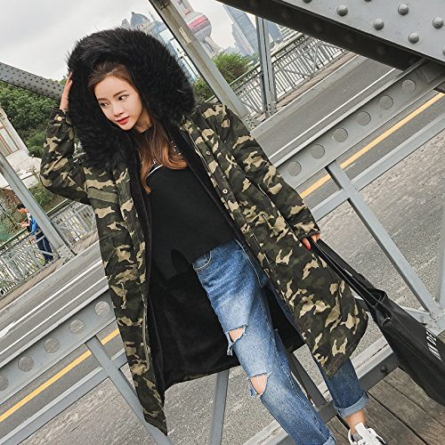 Jacket Cotton Collar Thicker Clothing Hooded camouflage Loose Winter Super Women Xuanku Coat Cotton 5YqpPwSEnx