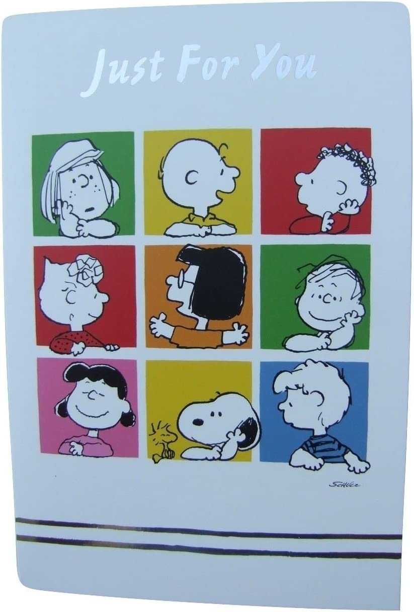 HLW114 Peanuts Snoopy Just for you blank card by Hambledon