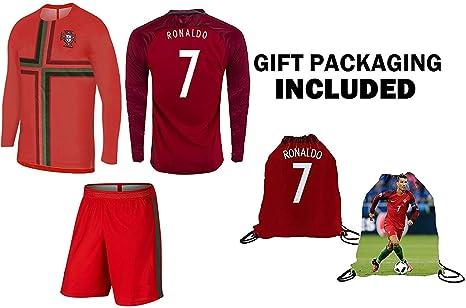 Ronaldo Jersey Portugal Camiseta de manga larga Niños Fútbol ...