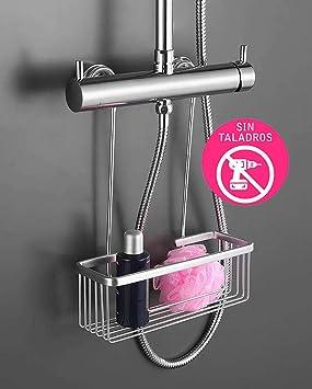 Oxen 131524 Portagel Cesta de Ducha y Bañera Sin Taladros, Cromado, Talla Única, 1 unit: Amazon.es: Bricolaje y herramientas