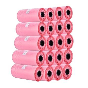 Amazon.com: Bolsas desechables de 20 rollos de color rosa ...