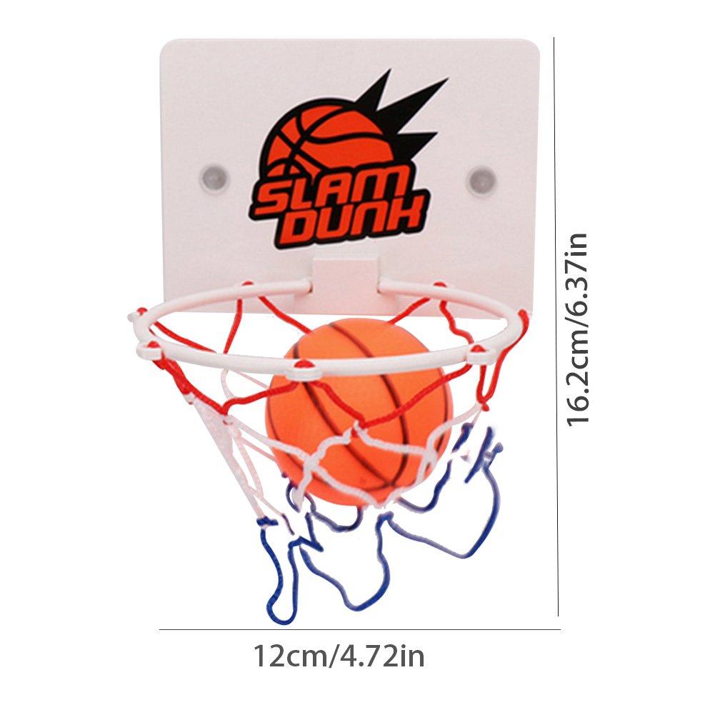 Mini Juego de Baloncesto Zebroau Canasta de Baloncesto con Pelota para ni/ños Soporte de Baloncesto de Pared para lechones para ni/ños Educaci/ón y Amantes del Baloncesto Juguetes Deportivos