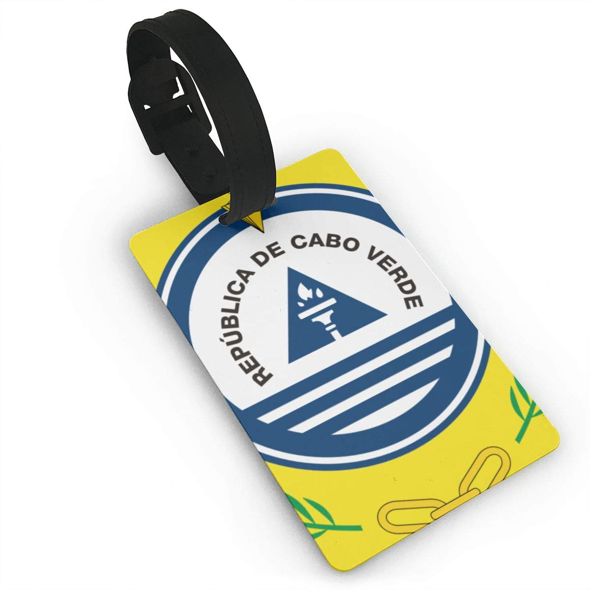 KODW12 Coat of Arms of Cape Verde Luggage Tag Travel Bag Labels Suitcase Bag Tag Name Address Cards