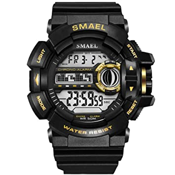 SMAEL LED Digital Wrsitwatches Relojes Militares Relojes Deportivos para Hombres Relojes Resistentes A Los Hombres S Reloj Impermeable,C: Amazon.es: ...