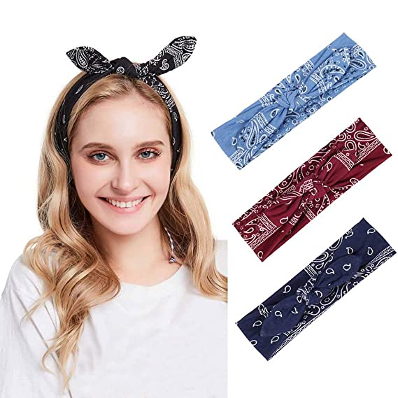 Jogging Yoga Fitness Hair Band Volleyball EERTX Women Yoga Head Bands Fashion Boho Solid Hairband Knot Tie Headwrap Hair Band Hoop Breathable Sweatband for Running
