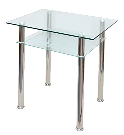 Generic cristal mesa auxiliar mesa de comedor escritorio 80 x 60 ...