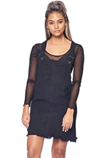 b1e22be2533 TwiinSisters Women s Casual Denim Destroyed Overall Dress for Women Plus