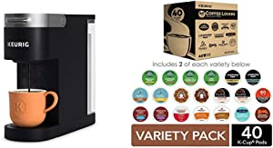 Keurig K-Slim Coffee Maker with Coffee Lovers' 40 Count Variety Pack Coffee Pods