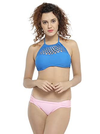 N Gal Womens Crochet Halter Bikini Mix Match Swimsuit Ng41389
