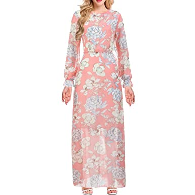 341dfd09867a Women's Dresses Long Sleeve Summer Boho Sexy Floral Print Casual Dress  Autumn Mini Stretch Dress at Amazon Women's Clothing store: