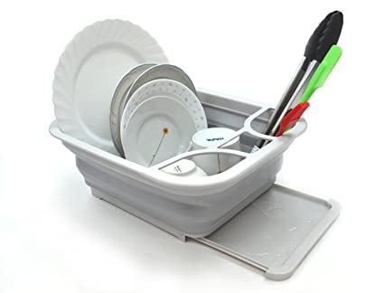 Amazoncom Sammart Collapsible Dish Drainer With Drainer Board