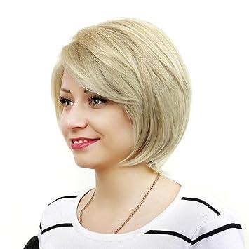 Amazon Com Women Short Hair Wigs Mix Blonde Natural Hair Full Wigs