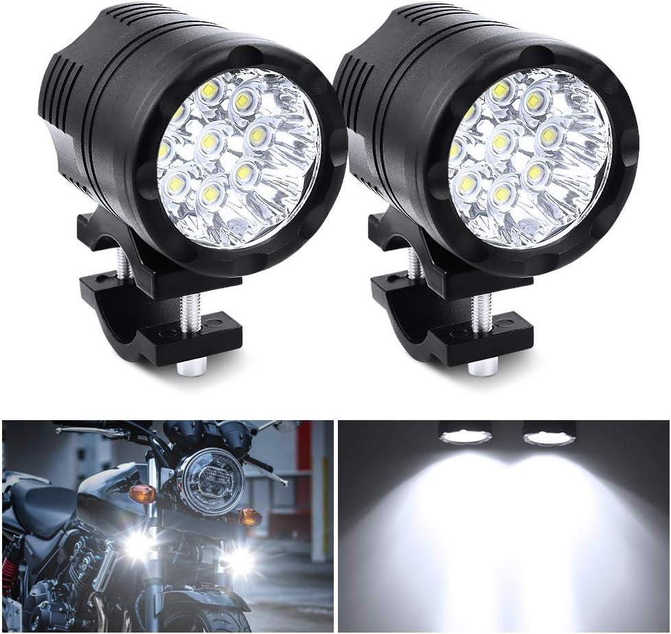 Motorcycle Spotlight Universal 90W Driving Lamp 12V 24V Fog Lamp For Motorbike Truck Je-ep Car Boat Auxiliary Lights