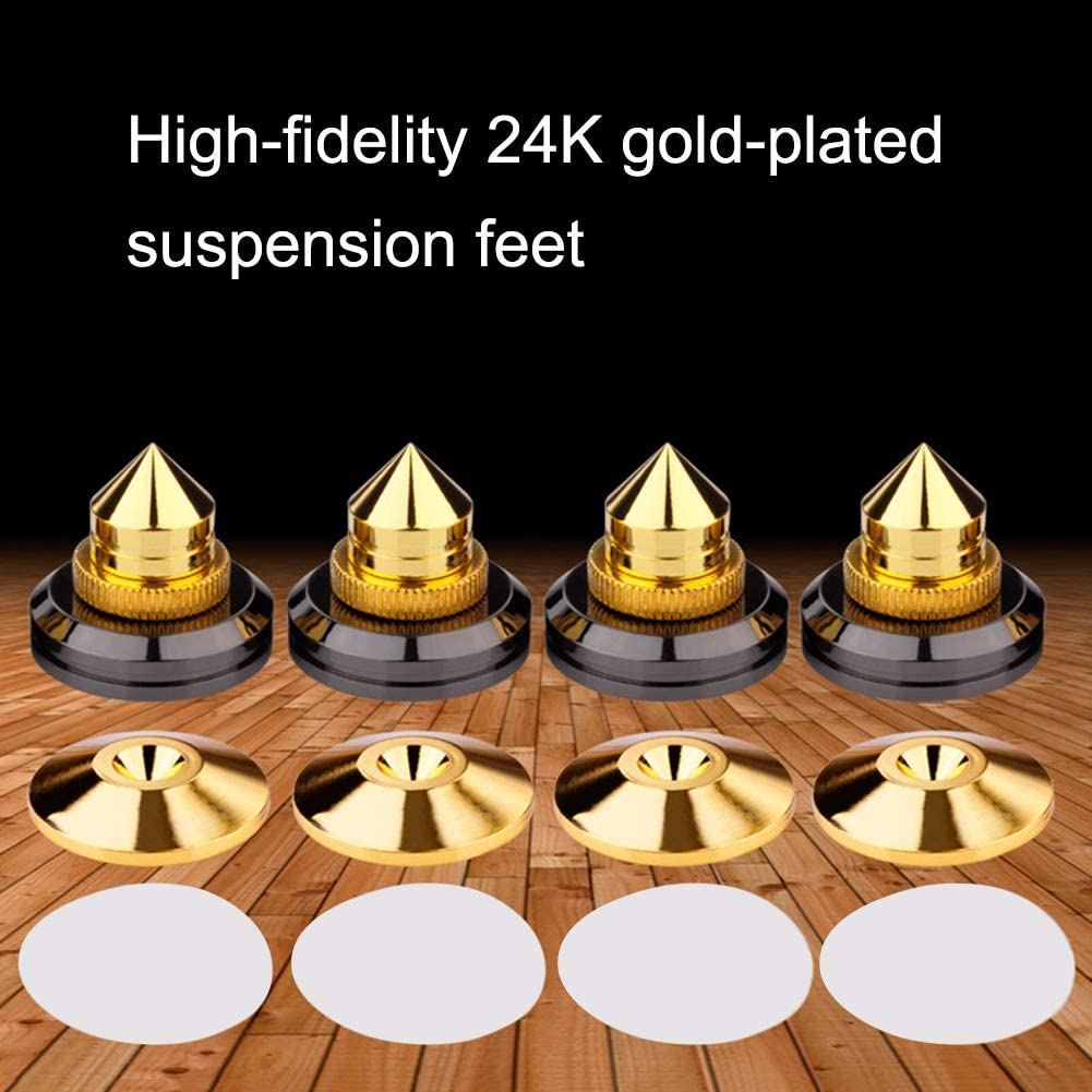 4Pcs 4Pcs Shockproof Speaker Spike Golden Stand Feet Cone Base Pads for Subwoofer CD Audio Amplifier HiFi Speaker Accessories