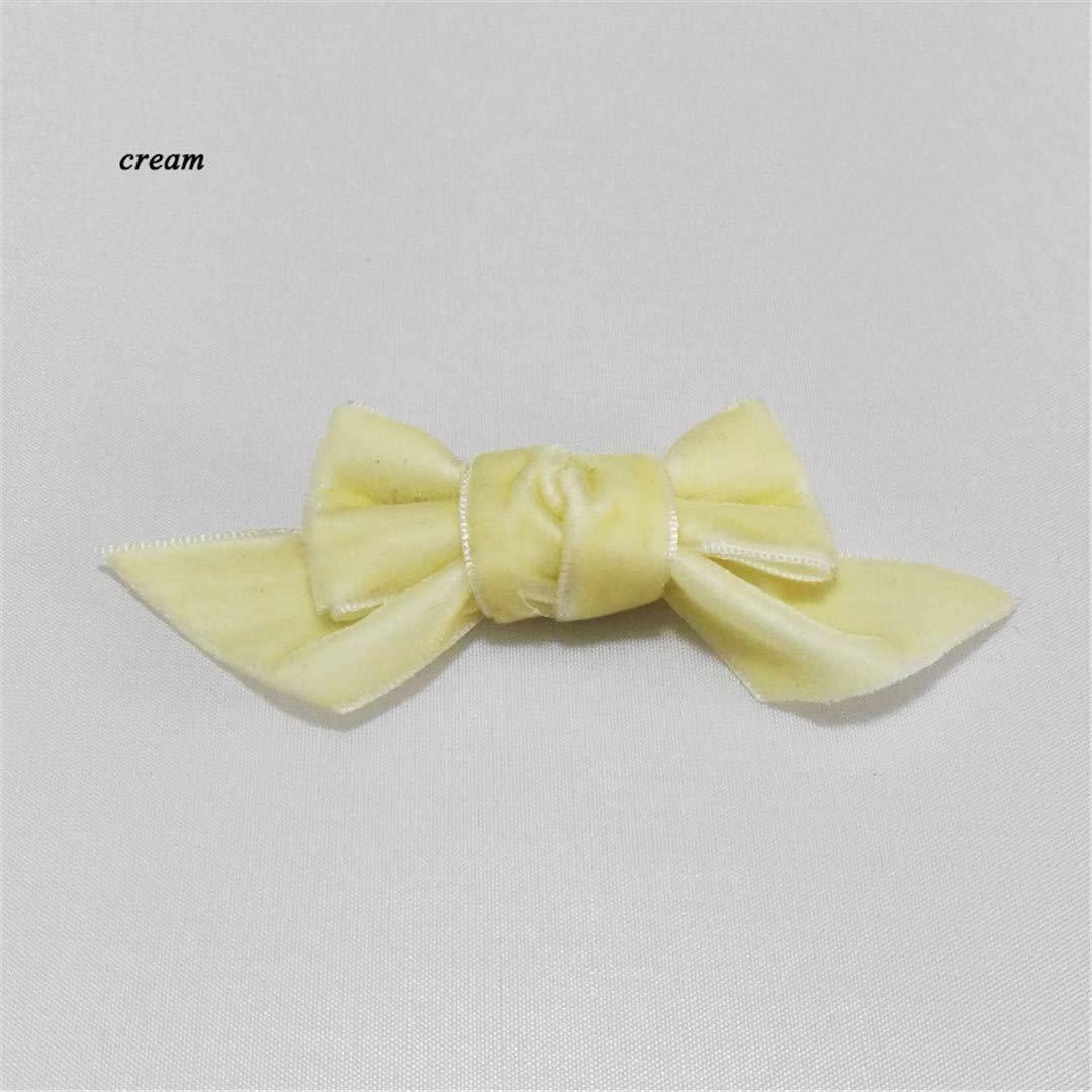 d2e261f60ffff Amazon.com: 12Pcs Small Velvet Bow Hair Clips For Girls Kids Hair ...