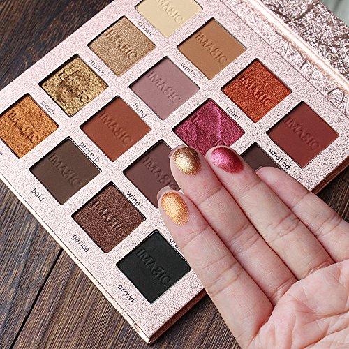 Waterproof Eyeshadow Palette Hosamtel Pro Makeup 16 Colors Glitter Matt Eye Shadow Powder Set