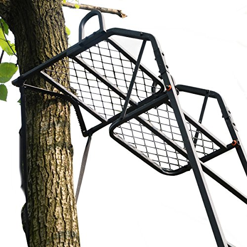 15' Deluxe Hunting Ladder Stand Tree Stand Safety Harness...