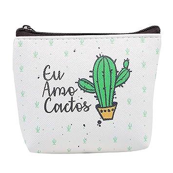Hosaire 1X Monedero Niña Estilo Cactus Monedero Lindo de la Moneda de la Historieta Creativa de