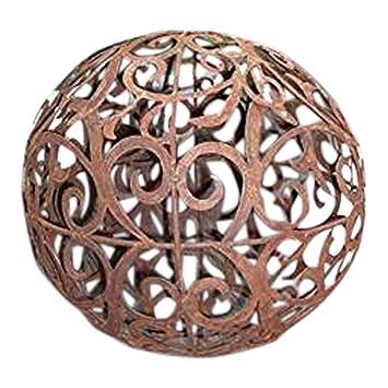 Patine forme de boule baroque 40 cm Rouille Jardin Sphère ...