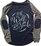 """""""It is Well with My Soul"""" Christian T Shirt Long Sleeve"""