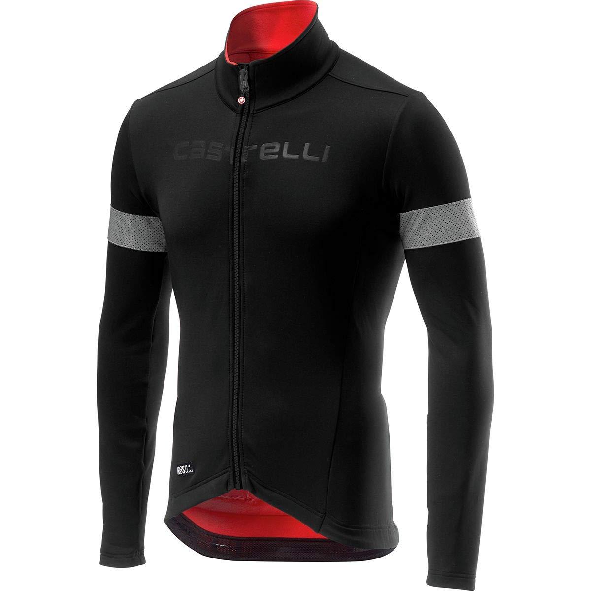 Castelli Nelmezzo ROS Jersey - Men's Black/Red, XXL