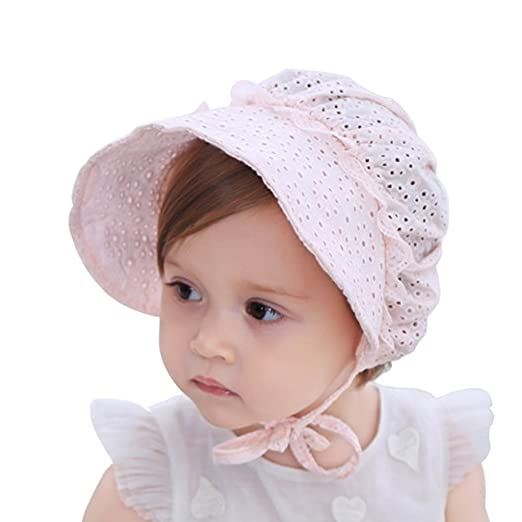 Amazon.com  My Little Baby Baby Girls Sun Hat Summer Baby Hats Fashion  Hollow Sun Protection Caps Floppy Beach Hat Vacation Caps (Pink)  Clothing 881b9065dc7f