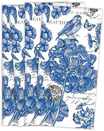 La colección de Deborah Michel turco servilletas (Juego de 4), Indigo algodón: Amazon.es: Hogar