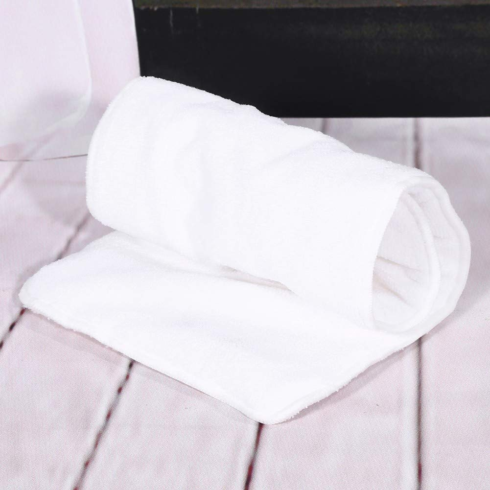 Adulto lavable 4 capas de pa/ñales de tela de incontinencia suave Insertar pa/ñal de Pad Revestimientos de pa/ñales reutilizables