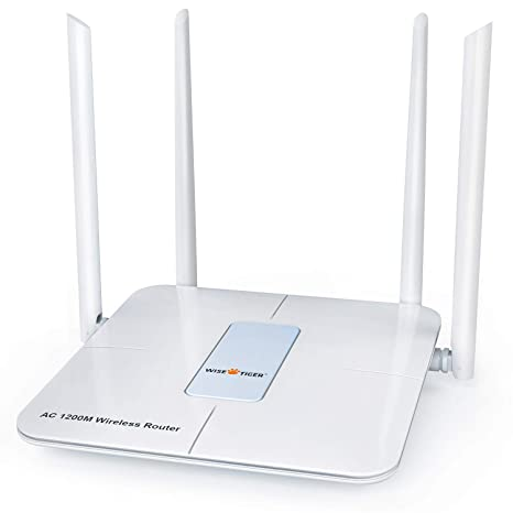 Wireless Router 1200mbps Long Range Wifi Router Ac High Speed Dual Band  Router with 4 Lan Ports for Home Office internet Router Amazon Alexa with  Wifi