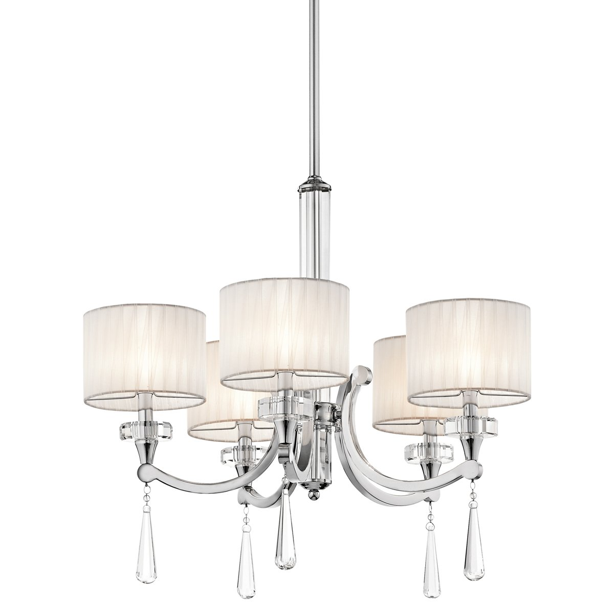 Kichler 42631ch five light chandelier amazon mozeypictures Images