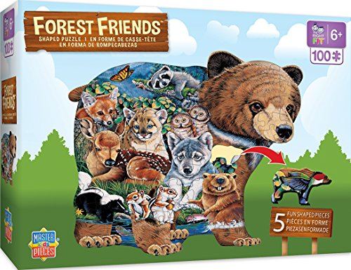 - MasterPieces Forest Friends Shaped - 100 Piece Kids Puzzle